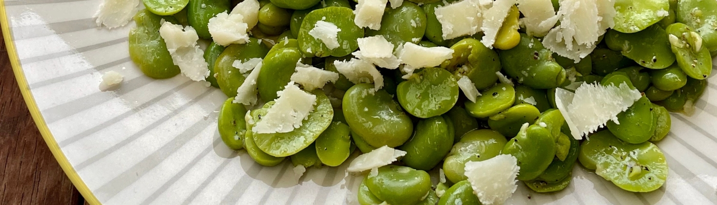 Broad Bean and Pecorino Salad